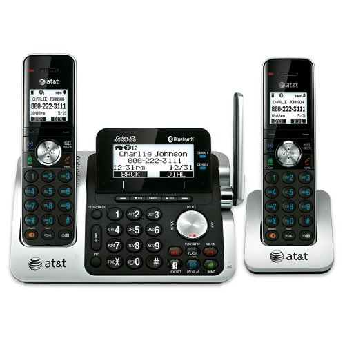 At&T Tl96271 Dect_6.0 2-Handset Link To Cell Landline Telephone