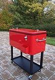 Steel 80 Quart Patio Cooler with Cart