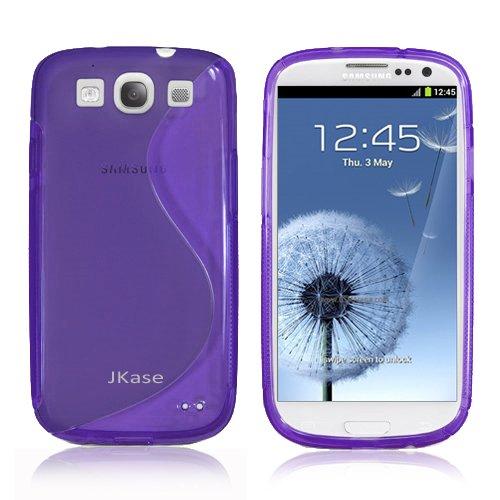 Jkase Slim-Fit Streamline Ultra Durable Tpu Case For Samsung Galaxy S Iii - Retail Packaging - Purple