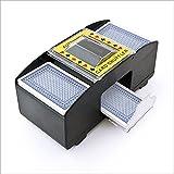 Relaxdays automatischer Kartenmischer Kartenmischmaschine Spielkartenmischgerät elektrisch für 2 Decks