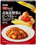 S&B 100kcal 北海道野菜のビーフカレー中辛 200g×5個