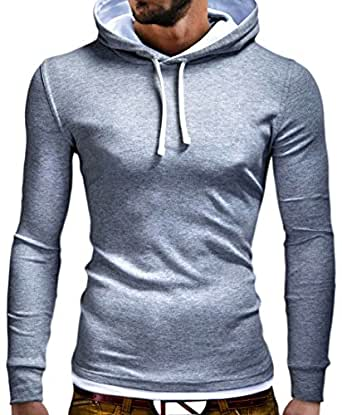 MyTrends - Pull tendance à capuche et longues manches S-151 - Taille M