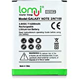lomui® 4200mAh High Capacity Replacement Battery for Samsung N7100 Galaxy Note2 Note II EB595675LU (N7100)
