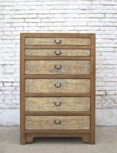 China cassetti grandi cassettiera 6 cassetti in legno naturale crema recidive in legno di pino