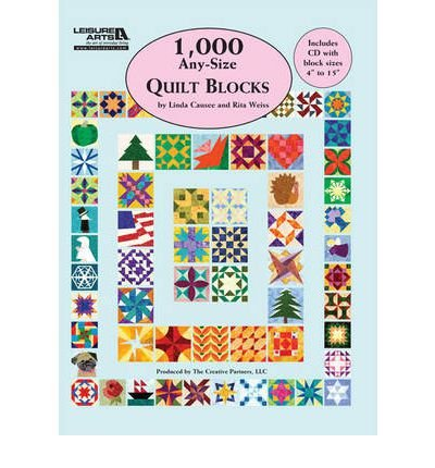 1,000 Any-size Quilt Blocks (Mixed media product) - Common
