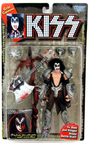 Picture of McFarlane 1997 KISS Ultra Action Figure with Letter Base - Gene Simmons (B001N14SIU) (McFarlane Action Figures)