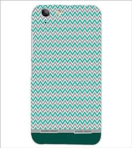 PrintDhaba Zig Zag Pattern D-1687 Back Case Cover for LENOVO VIBE K5 (Multi-Coloured)