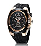 iSweven isweven V6 series trend fancy strap men's sports watch Analogue Black Unisex Wrist Watch W1013dd
