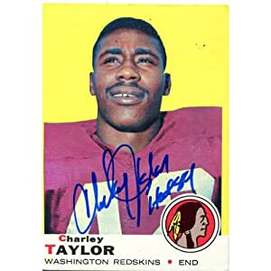 Charley Taylor Autographed 1969 Topps Card at Amazon's