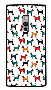 """Humor Gang Colorful Hounds Dogs Printed Designer Mobile Back Cover For """"OnePlus Two"""" (2D, Glossy, Premium Quality Snap On Case)"""