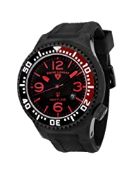 Swiss Legend Men's 21818P-BB-01-RB Neptune Collection Black Ion-Plated Black Rubber Watch