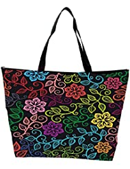 Snoogg Seamless Texture With Flowers And Butterflies Endless Floral Pattern Waterproof Bag Made Of High Strength... - B01I1KHSD2