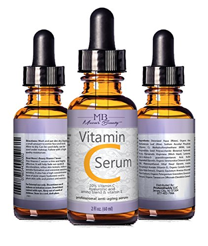 DOUBLE SIZED (2 oz) PURE VITAMIN C SERUM FOR FACE 20% Pure Vegan Hyaluronic Acid Anti Wrinkle, Anti Aging & Repairs Dark Circles, Age Spots & Sun Damage Vitamin C Super Strength Organic Ingredients (Lead Remover Soap compare prices)