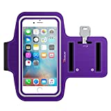 iPhone 6S Armband, Trianium ArmTrek Sports Exercise Armband for Apple iPhone 6 | iPhone 6S Case Running Pouch Touch Compatible Key Holder [Purple] [Lifetime Warranty] Good for Hiking,Biking,Walking