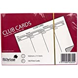 Silvine pink savings club record cards - 162 x 111mm - pack of 100