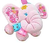 (エイチケーエイチ) HKH 今日からお友達 タイプ2 ベビー & キッズ 音が鳴る 人形 仕掛け 知育 遊具 子供 赤ちゃん おもちゃ ぬいぐるみ (ゾウさん ピンク)