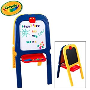 Amazon.com - Crayola 3 in 1 Double Sided Easel - Chalkboard, Dry Erase Magnetic Includes 77