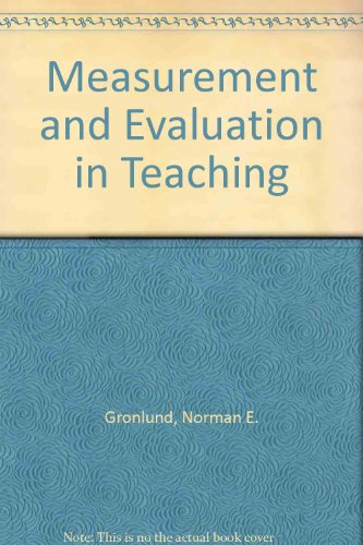 measurement and assessment in teaching essay The characteristics of formative assessment in science education requiring short answers and essay questions) teaching for and assessment of conceptual.
