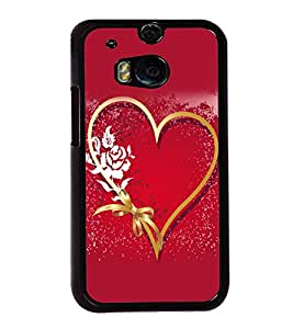 printtech Heart Ribbon Flower Love Back Case Cover for Huawei Honor 7 Enhanced Edition; Huawei Honor 7 Dual SIM with dual-SIM card slots