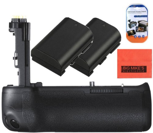 Battery Grip Kit for Canon EOS 6D Digital SLR Camera Includes Qty 2 Replacement LP-E6-Compatible Batteries + Vertical Battery Grip + More