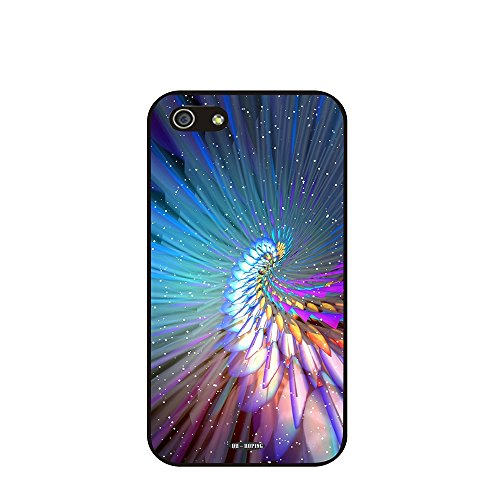 Dh-Hoping (Tm) Cell Phone Case For Personalizatied Custom Picture Iphone 5C High Impackt Combo Soft Silicon Rubber Hybrid Hard Pc & Metal Aluminum Protective Case With Customizatied Abstract Pocket Watch Plaid Retro Style Luxurious Pattern (Abstract Art-1