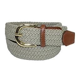 CTM® Womens Elastic Braided Stretch Belt, Small, Khaki