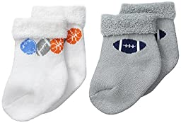 Gerber Baby-Boys Terry Socks, Sports, 0-6 Months (Pack of 2)