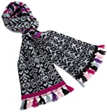 Lucky Brand Womens Juxtaposed Scarf, Black, One Size