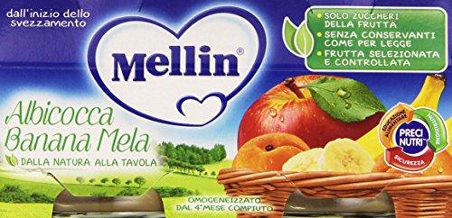 Mellin - Omogeneizzato, Albicocca Banana Mela - 200 grams