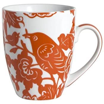 Orange Robin Mug