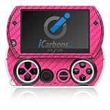 ICarbons Pink Carbon Fiber Vinyl Skin For Sony PSP Go