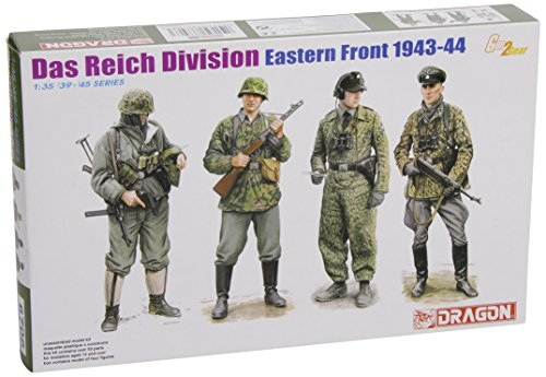 Dragon Models Das Reich Division Eastern Front 1942-43 Model Building Kit (4 Figures Set), Scale 1/35 (Das Model compare prices)