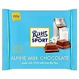リッタースポーツアルペンミルクチョコレート100グラム - Ritter Sport Alpine Milk Chocolate 100g [並行輸入品]