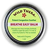 Breathe Easy Balm. Natural Sinus Infection Treatment Helper. Use directly or with Vaporizer, Neti Pots, Sinus Rinse, Sinus Inhaler. Open Blocked Airways, Sinus Relief, Loosen Mucus & Congestion