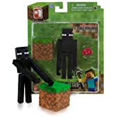 Overworld Enderman: Minecraft Mini Fully Articulated Action Figure Series #1