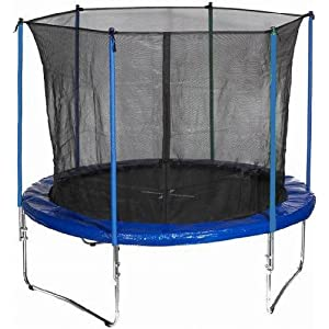 trampoline mastec trampoline de jardin 305 cm filet de s curit bleu ou vert. Black Bedroom Furniture Sets. Home Design Ideas