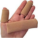 DenadaDance Hammer Toe Finger Cushion - 2 Silicone Wide & Narrow Tubes/Sleeves for Instant Pain Relief - Use as Protectors for Sore Toes and Fingers, Callus, Corn, Blisters