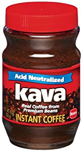 Kava Acid-Neutralized Instant Coffee, 8-Ounce Container