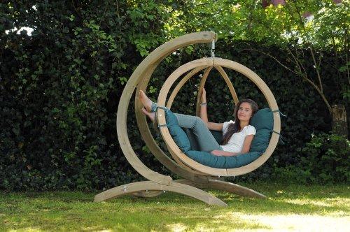 AMAZONAS - GLOBO chair vert + support bois V2