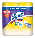 Lysol Dual Action Disinfecting Wipes, Citrus, 150 Count