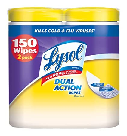 Lysol Products: 150-count Dual Action Disinfecting Wipes (Citrus Scent) $6.38