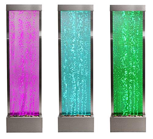 Fontane a parete d 39 acqua con le bollicine e luci led for Parete acqua
