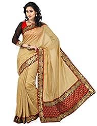 Beige Color Banarasi Silk Jacquard Saree With Blouse