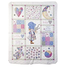 Bucilla 45355 Baby   Stamped Cross-Stitch Crib-Cover Kit, Holly Hobbie
