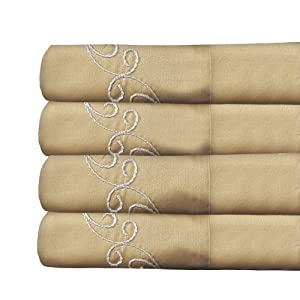Veratex Supreme Sateen 800 Thread Count Scroll Sheet Set