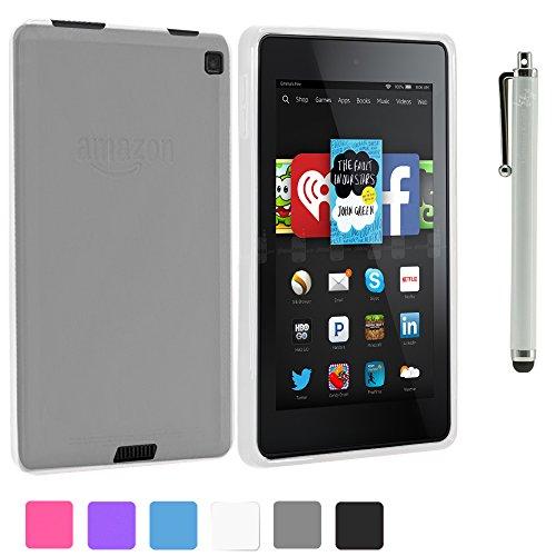 Lk Fire Hd 6 Case - X Design Slim Tpu Gel Rubber Soft Skin Case Cover For Fire Hd 6 + Free Stylus Pen + Screen Protector (Clear)