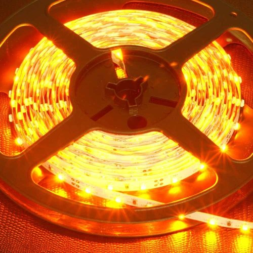 Supernight (Tm) Led Strip Light, Non Waterproof Led Flexible Light Strip 12V With 300 Smd Led, 5050 Yellow. 16.4 Foot / 5 Meter. front-172701