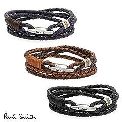 (ポールスミス)Paul Smith 牛革編込み ブレスレット 2重巻き メンズ 250920 (パープル)