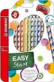 STABILO EASYcolors 12er Etui mit Spitzer rechts - ergonomische Buntstifte