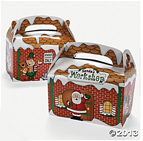 Santa's Workshop Christmas Party Favor Treat Boxes - 1